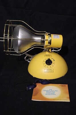 Mint Vintage GE Deluxe Time-A-Tan UV Suntanner Sun Tan Tanning Lamp Light, NOS