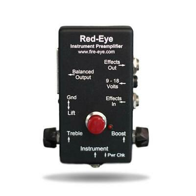 Red-Eye Preamp DI Hand-Made by Fire-Eye Development USA - Acoustic & Bass Guitar