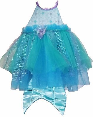 Disney Baby Ariel Costume Girls Infant Dress Attached Tail Tulle Sparkle Mermaid