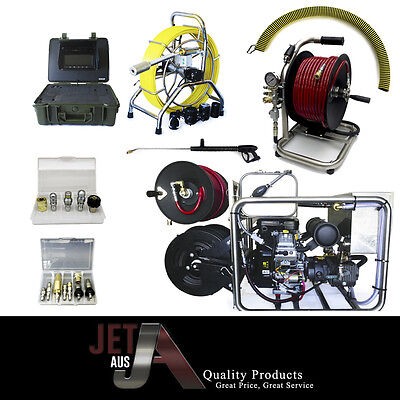 Dual reel,stainless frame sewer jetter,40mm slh camera,5000psi,25lm,mini reel