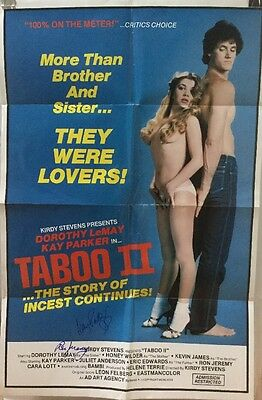 Kay Parker, Ron Jeremy Signed Poster, TABOO II, Autographed RARE