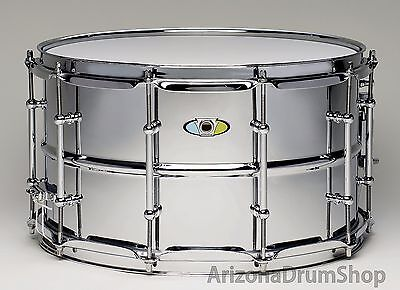 "Ludwig SUPRALITE Snare Drum 8x14"" Chrome Over Steel w/Tube Lugs (LW0814SL)  NEW"