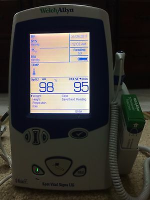Welch Allyn LXi 45MTO Spot Vitals Monitor SpO2, NIBP, and Temp (New Battery)
