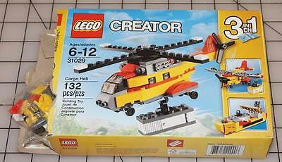 LEGO Creator 31029 New 132 pcs Cargo Heli 3 in 1 Helicopter- Airplane- Boat