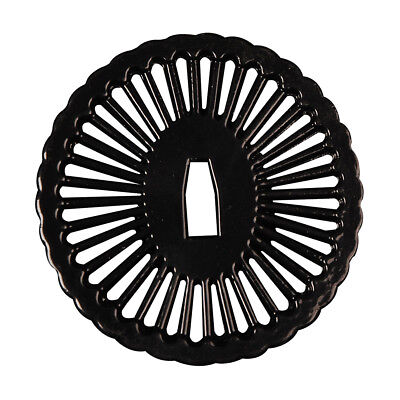 Black  Alloy Tsuba Hand Guard For Japanese Samurai Katana Wakizashi Sword