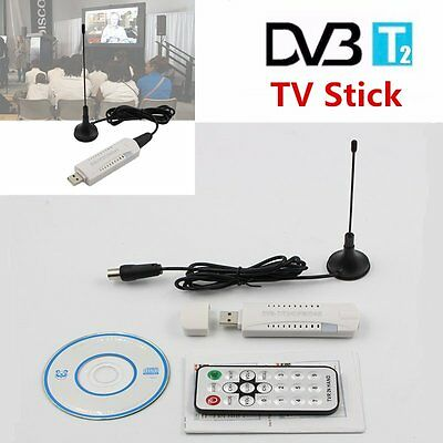 Digital TV Stick Recorder USB 2.0 DVB-T2 HDTV Receiver Fernbedienung CD AZF3
