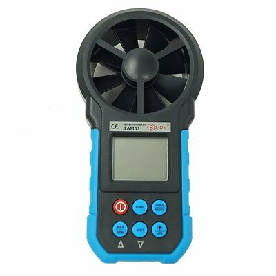 EAM03 Digital Anemometer Air Volume/Wind Speed/Area/Temperature Humidity Meter