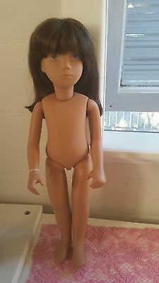 "SASHA Wigged 1981 LIMITED ED Doll 16"" Nude England Doll Tag RARE BLUE EYES Nice!"