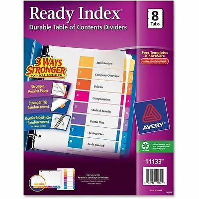 Avery Ready Index Table of Contents Reference Divider 11133