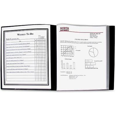 C-Line 24-Pocket Bound Sheet Protector Presentation Book, Black, 33240 33240