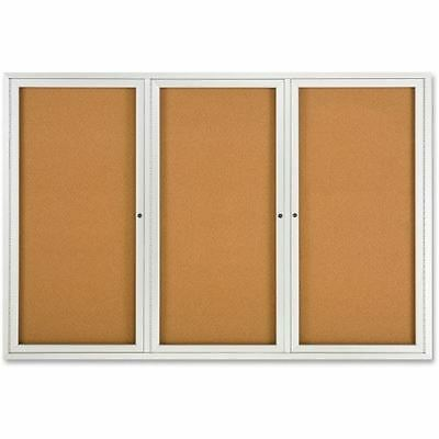Quartet Enclosed Cork Bulletin Board for Indoor Use 2367