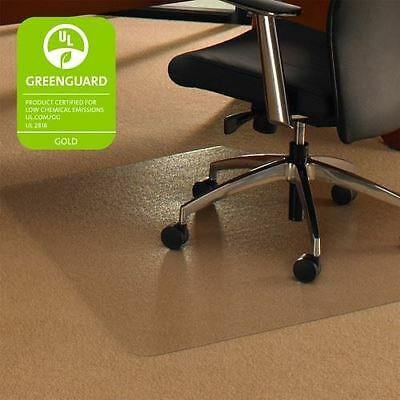 Cleartex Ultimat Chair Mat for Low to Medium-pile Carpets - Corner Workstation 1