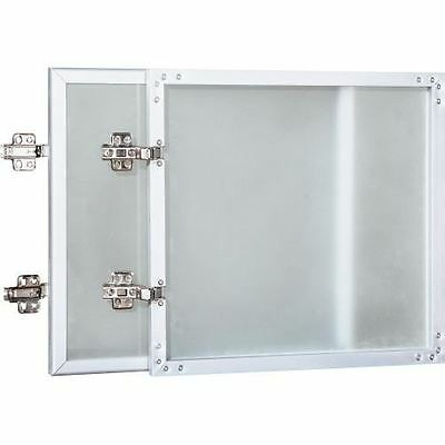 Lorell Wall-Mount Hutch Frosted Glass Door 59577