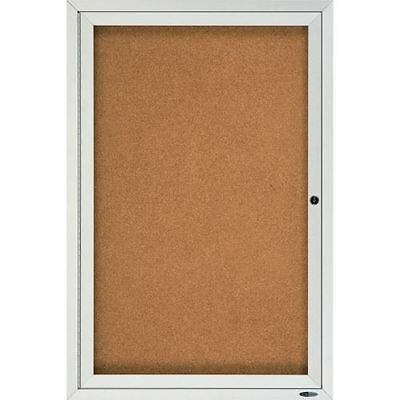 Quartet Enclosed Cork Bulletin Board for Indoor Use 2363