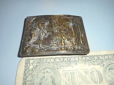Vintage Indiana Metal Craft C.5 Belt Buckle.  Greek? Mythology?