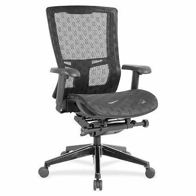 Lorell Checkerboard Design High-Back Mesh Chair 85560