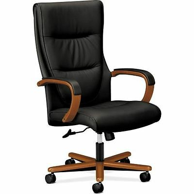 Basyx by HON HVL844 High-back Wood Base Executive Chair VL844HSB11
