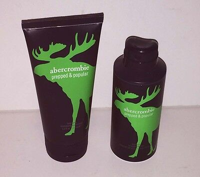Abercrombie & Fitch Kids PREPPED & POPULAR Boys Body Wash + Body Spray 2PC Set!