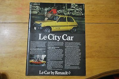 Le Car by Renault 1978 Playboy Magazine ad - Excellent