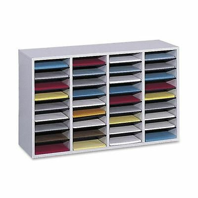 Safco 36 Compartment Adjustable Shelves Literature Organizer 9424GR