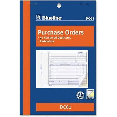 Blueline Purchase Order Form Book DC61