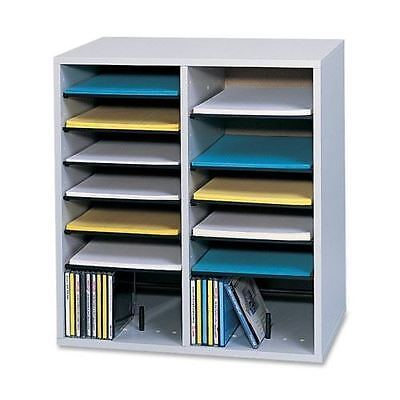 Safco 16 Compartments Adjustable Shelves Literature Organizer 9422GR