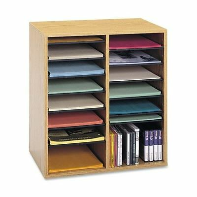 Safco 16 Compartments Adjustable Shelves Literature Organizer 9422MO