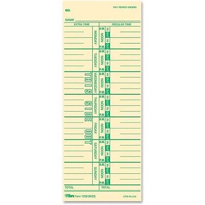 TOPS Named Days Weekly Time Card 12593