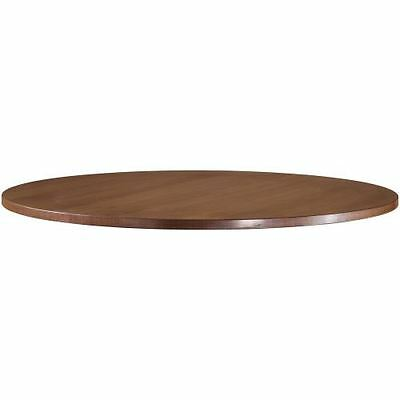 Lorell Essentials Series Walnut Laminate Round Table 69989