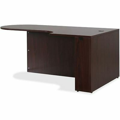 Lorell Essentials Series Mahogany Laminate Desking 59550