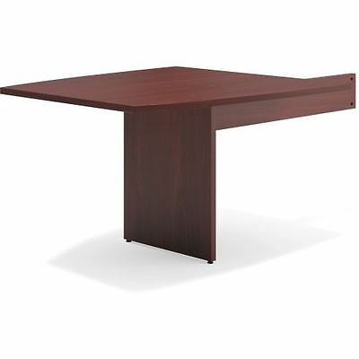Basyx by HON Mahogany Slab Base End Table BLMT48BNN