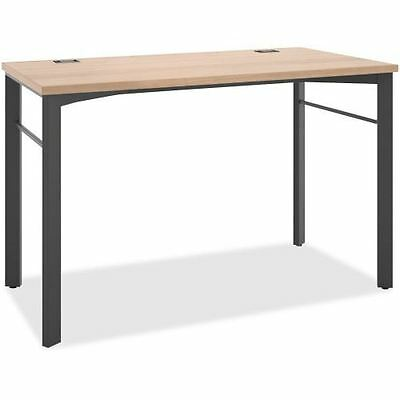 Basyx by HON Manage Series Wheat/Ash Desk Table MNG60WKSLW