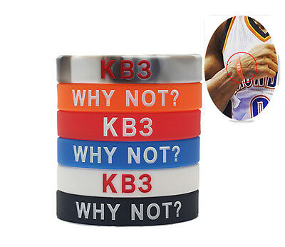 Russell Westbrook KB3 Bracelet Basketball Sports Silicone Rubber Wristband Cuff