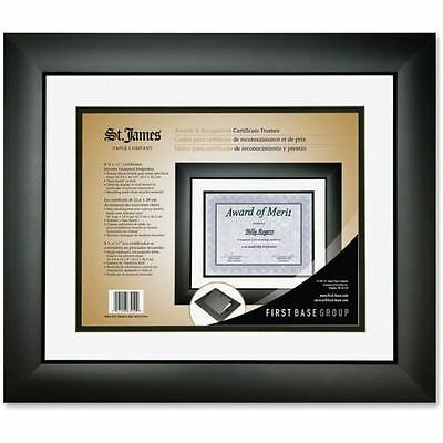 First Base Tuxedo Black Double Matte Certificate Frame 83910