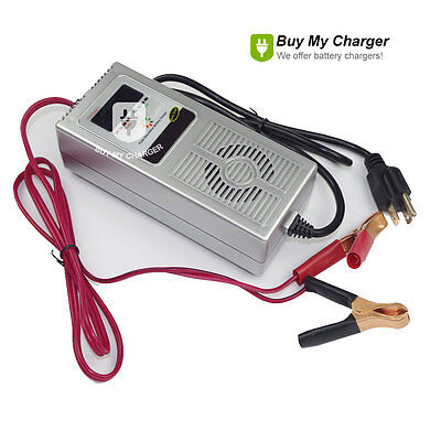 Smart 12V 8A Deep Cycle Vehicle Battery Charger Desulfator Negative Pulse