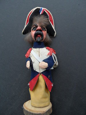 authentic  French  Guignol The  gendarme  WOODEN  AND  CLOTH  rare PUPPET