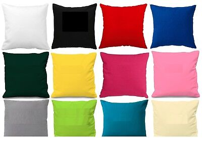 "Plain Cotton Cushion Cover 10"" to 24"" Sizes Available *Make to Order Sofa Cover*"
