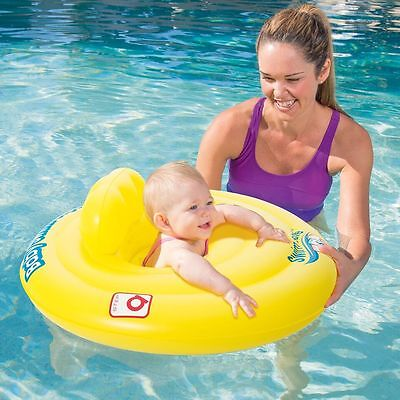 Inflatable Baby Swim Seat Pool Bath Ring Step A Swim Safe 0 to 12 Month BW32096