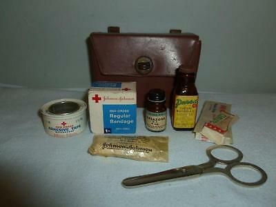 1950s First Aid Kit for Hiking or Camping Belt Pack-BL
