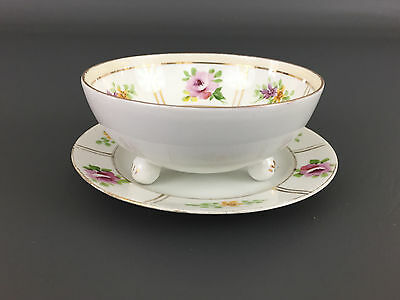 Antique  NIPPON mayonnaise bowl & under plate, hand painted 1891-1929