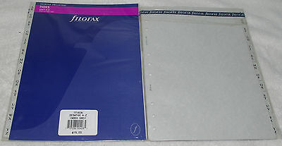 2 pc FILOFAX DESKFAX INDEX Grey A-Z Two Letter Refill Insert Organizer Agenda