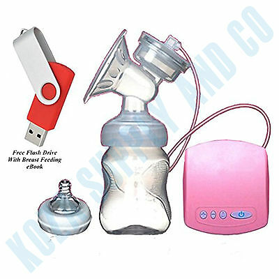 Electric Breast Pump Breastfeeding Milk Suction Single BPA FREE Portable Comfort