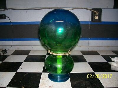 Vintage Colored Glass oil lamp