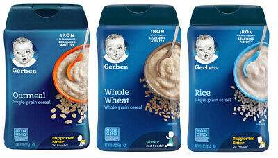 Gerber Lil' Bits Oatmeal Apple Cinnamon Cereal - Pack of 6