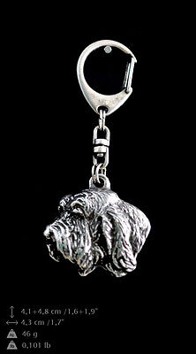Basset Vendeen silver covered keyring, high quality keychain Art Dog