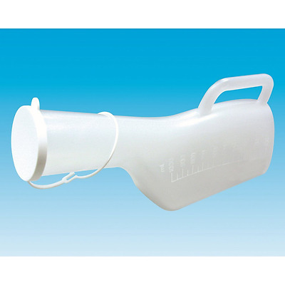 Long Necked Portable Travel Large Male Urinal Bottle Jug Incontinence Disability
