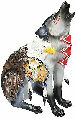 Westland Giftware Call of the Wolf Resin Figurine, Under Eagles Wings