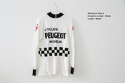 EROICA Peugeot vintage genuine authentic Long Sleeve Jersey RARE size Large 4
