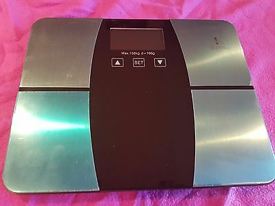 Body Fat Digital Precision Scale with Tempered Glass Platform 150KG Capacity NEW