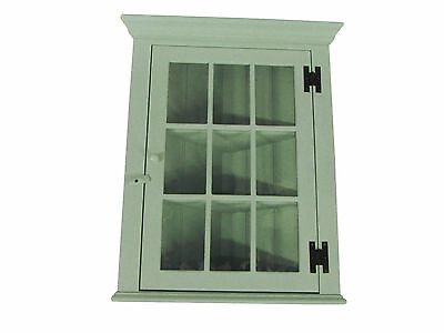 Vintage Farmhouse Corner Hanging Hutch Ethan Allen Cottage Wall Cabinet